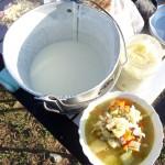 Yaourt (tarag),soupe de moutons avec des légumes et crème