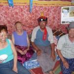 Moments passés avec la famille au lac Khar Nuur