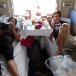 Transsibérien - Elise et Adam notre voisin canadien de cabine